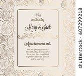 antique baroque luxury wedding... | Shutterstock .eps vector #607299218
