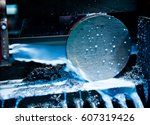 close up of a cnc machine at... | Shutterstock . vector #607319426