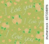 creative valentine style...   Shutterstock .eps vector #607338896