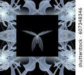 fractal art background for... | Shutterstock . vector #607348346