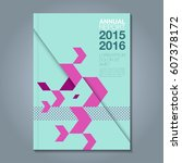 abstract minimal geometric line ... | Shutterstock .eps vector #607378172