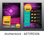 modern vector abstract brochure ... | Shutterstock .eps vector #607390106
