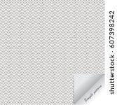 simple vector pattern  black... | Shutterstock .eps vector #607398242