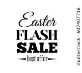 easter sale offer.  illustration | Shutterstock . vector #607407716