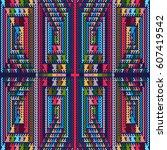 vector seamless pattern ... | Shutterstock .eps vector #607419542