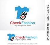 check fashion logo template... | Shutterstock .eps vector #607422782
