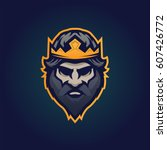 king head sports style logo... | Shutterstock .eps vector #607426772