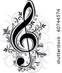 musical decor | Shutterstock .eps vector #60744574