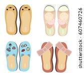 vector illustration of funny... | Shutterstock .eps vector #607460726