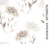 gentle abstract watercolor... | Shutterstock . vector #607468256