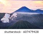mount bromo  indonesian  gunung ...   Shutterstock . vector #607479428