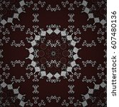 traditional orient ornament.... | Shutterstock . vector #607480136