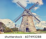 Countryside Landscape With Old...
