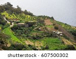 great dingli cliffs in malta. | Shutterstock . vector #607500302
