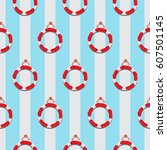 life ring seamless pattern ... | Shutterstock .eps vector #607501145