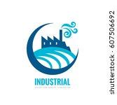 industrial factory building  ...   Shutterstock .eps vector #607506692