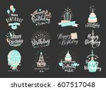 vector illustration of happy... | Shutterstock .eps vector #607517048