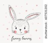 cute little rabbit | Shutterstock .eps vector #607531202
