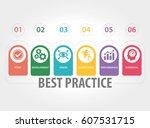 best practice infographic icons   Shutterstock .eps vector #607531715