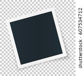 rotated photo frame concept ... | Shutterstock .eps vector #607534712