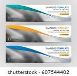 abstract web banner design... | Shutterstock .eps vector #607544402