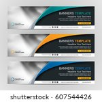 abstract web banner design... | Shutterstock .eps vector #607544426