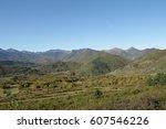 autumn landscape in pyrenees ... | Shutterstock . vector #607546226