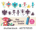 kids learning game. find the... | Shutterstock .eps vector #607570535