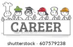 education and career choice... | Shutterstock .eps vector #607579238