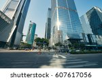 the office buildings at city | Shutterstock . vector #607617056
