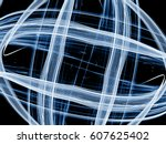 bright glowing abstract... | Shutterstock . vector #607625402