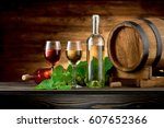 Wine Bottle And Glasses With...