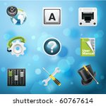 typical mobile phone apps and... | Shutterstock .eps vector #60767614
