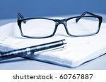 glasses fountain pen and... | Shutterstock . vector #60767887