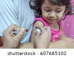 close up hands  nurses are... | Shutterstock . vector #607685102