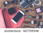 equipment tour of the teen girl ... | Shutterstock . vector #607709348