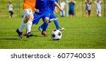 football match for children.... | Shutterstock . vector #607740035