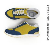 convenient for sports mens... | Shutterstock . vector #607741115