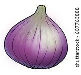 a purple fig | Shutterstock . vector #607763888