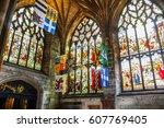 edinburgh  scotland   june 5 ... | Shutterstock . vector #607769405