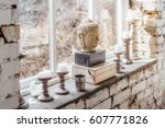 decoration in boho style.... | Shutterstock . vector #607771826