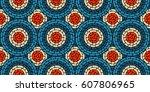 circular seamless pattern of...   Shutterstock . vector #607806965