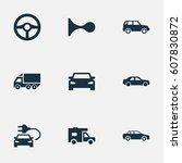 vector illustration set of... | Shutterstock .eps vector #607830872