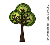 tree plant ecological icon... | Shutterstock .eps vector #607839152