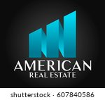 real estate  building ... | Shutterstock .eps vector #607840586