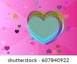 valentine template elements   Shutterstock .eps vector #607840922