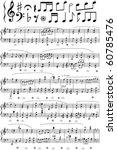 vector music note sheet | Shutterstock .eps vector #60785476