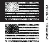 usa american grunge flag set ...   Shutterstock .eps vector #607864265