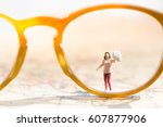 miniature people   small figure ...   Shutterstock . vector #607877906