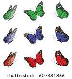 vector illustration of a... | Shutterstock .eps vector #607881866